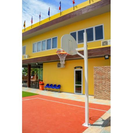 But de basket carré de 90 mm - Hauteur du cercle 2,6 m ou 3,05 m sur platine