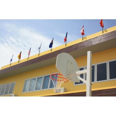 But de basket carré de 90 mm - Hauteur du cercle 2,6 m ou 3,05 m à sceller