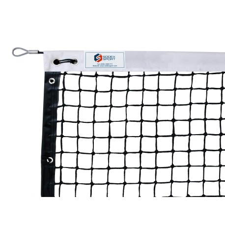 Filet de tennis 4 mm maille simple - Bande sur le périmètre