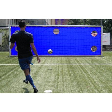 Bâche PVC d'entraînement aux tirs pour but de foot à 8
