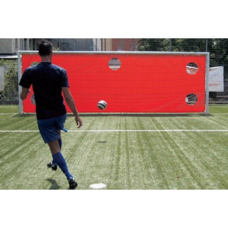 Bâche PVC d'entraînement aux tirs pour but de foot à 11