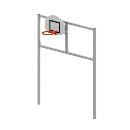 But multijeux hand/foot/basket en acier galvanisé carré de 80 x 80 mm sans arceau (fourreaux inclus)