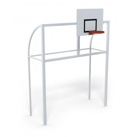 But multijeux hand/foot/basket Premium en acier galvanisé à chaud carré de 80 x 80 mm avec arceaux.