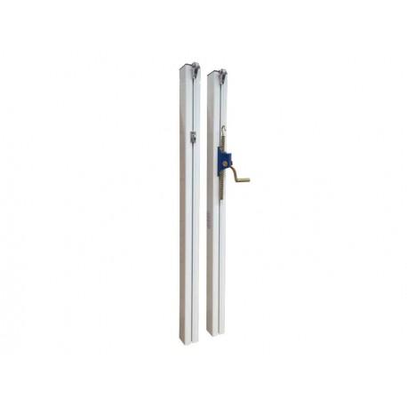 Poteaux de tennis à sceller aluminium 80 x 80 mm