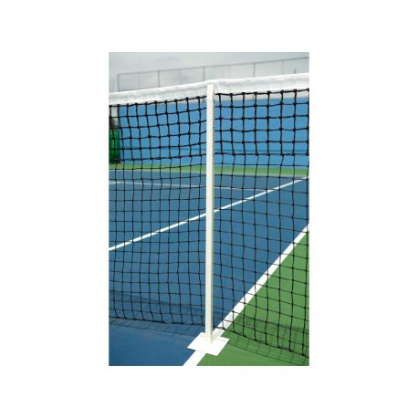 Poteaux de tennis de jeu en simple