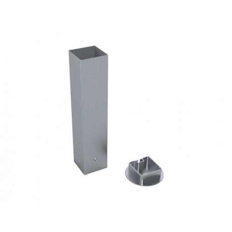 Jeu de 2 Fourreaux aluminium pour poteaux 80x80 mm