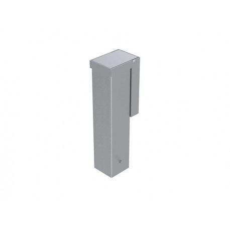 Jeu de 2 Fourreaux aluminium pour poteaux 80x80 mm (couvercle encastré)
