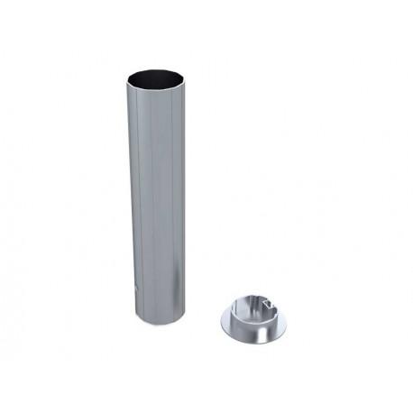 Jeu de 2 Fourreaux aluminium pour poteaux Ø 90mm