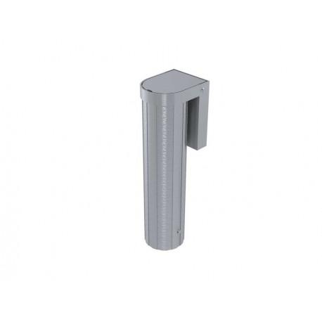 Jeu de 2 Fourreaux aluminium pour poteaux Ø 90mm (couvercle encastré)