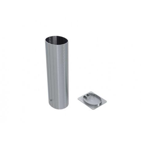 Jeu de 2 Fourreaux aluminium pour poteaux ovoïdes 120x100 mm