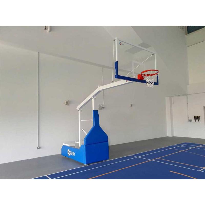 But de basket hauteur fixe - déport 1m20 hauteur de cercle 3m05. Sans protection. Sans contrepoids.
