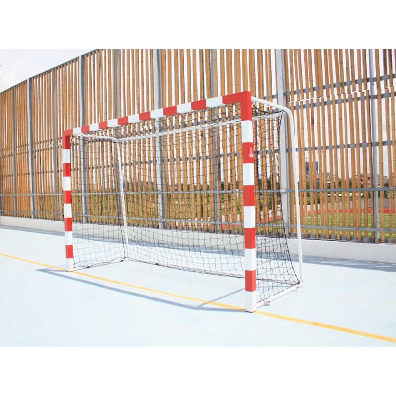 Buts de hand compétition façade monobloc à sceller en acier galvanisé
