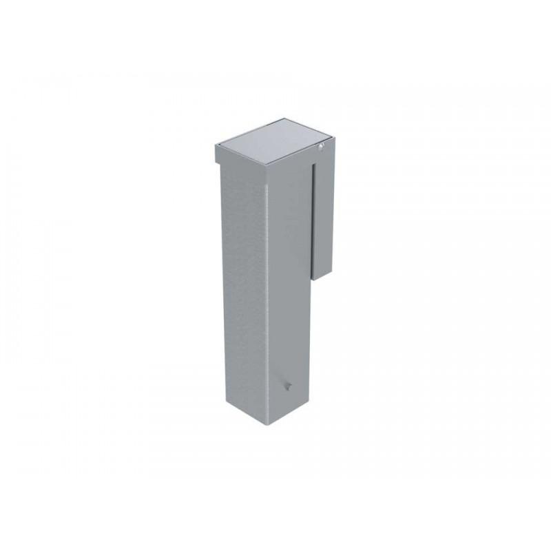 Jeu de 4 fourreaux aluminium avec couvercles encastrés