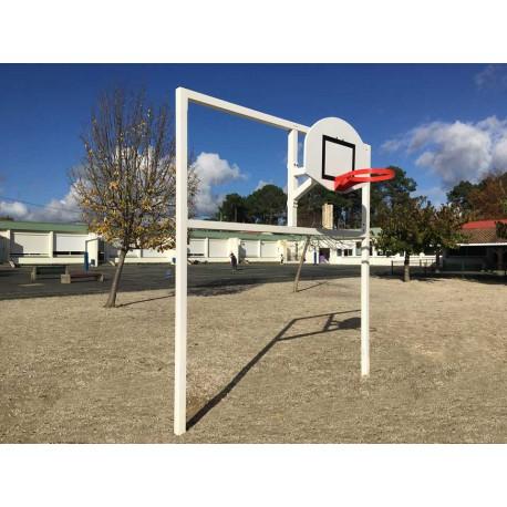 But multijeux hand/foot/basket en acier galvanisé carré de 80 x 80 mm