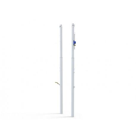 Poteaux télescopiques de Volley en acier à sceller Ø90 mm