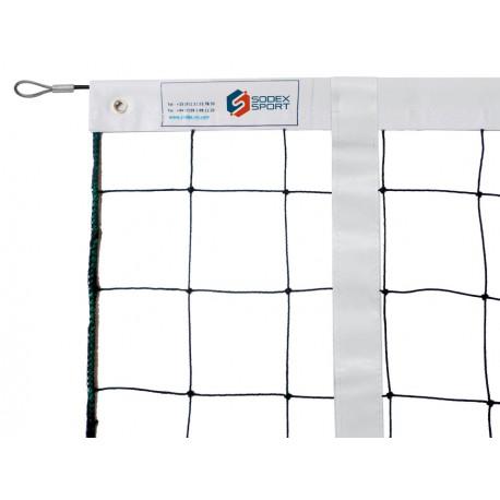 Filets de volley tension par cable acier