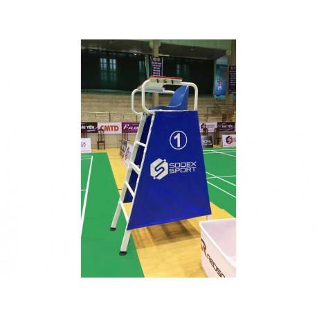 Chaise d'arbitre de badminton en aluminium