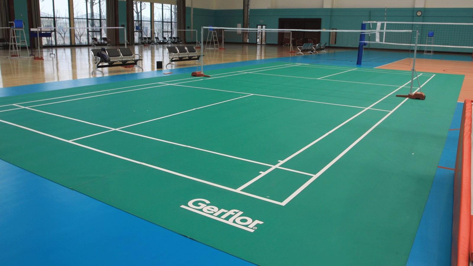 Sol Pour Salle De Sport kit sol pvc taraflex badminton portable