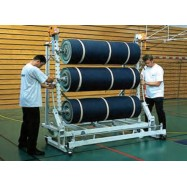 Stockeur mobile 4 rlx de sol sportif de 1.50ml