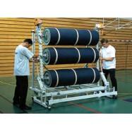 Stockeur mobile 6 rlx de sol sportif de 1.50ml
