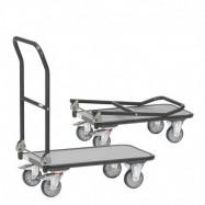 Chariot à dossier rabattable en acier