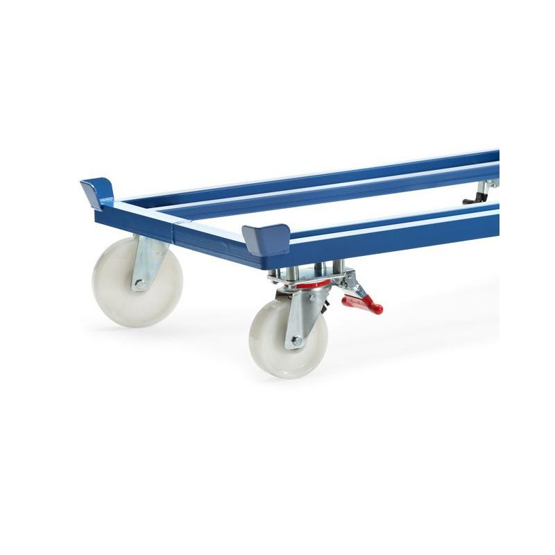 2 roues pivotantes à levier fixe