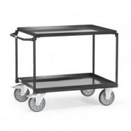 Chariot à plateaux tôlés avec rebord