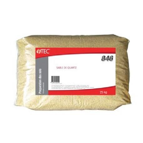 Sable siliceux sec - granulométrie 0,5 à 1,2 mm TEC 845