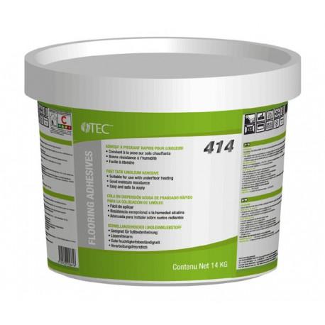 Colle spécifique en dispersion aqueuse rapide pour revêtement linoléum TEC 414