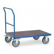 Chariot à dossier de poussée avec plateforme hydrofuge