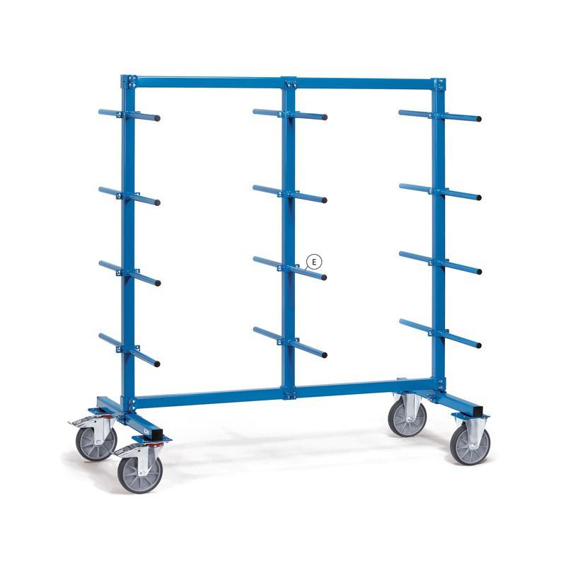 Barre de portée horizontale PVC (2 pièces) - Chariot Cantilever