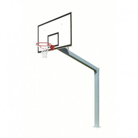 But de basket carré de 140 mm - Hauteur de cercle 3,05 m sur platine