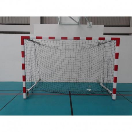 Buts de hand compétition, façade non monobloc réglable en profondeur de 1 m à 1,5 m