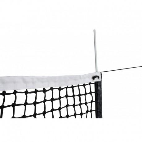 Filet de tennis 3 mm maille double - Bande sur le périmètre + barres de cadrage