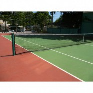Filet de tennis spécifique pour récupérer les balles lors d'entrainement intensif