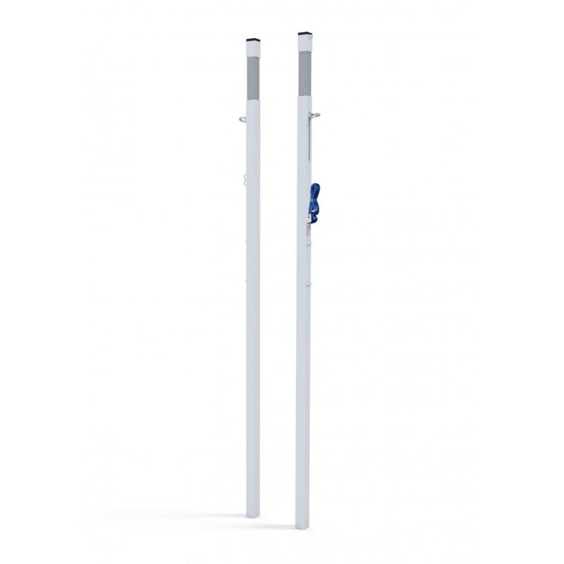 Poteaux compétition à sceller - Modèle FFBAD + Fourreaux inclus